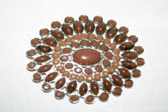 Brown stone buckle