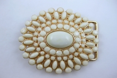 Ivory stone gold buckle